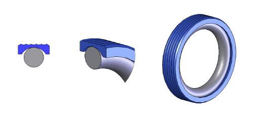 Mh7 O Ring Loaded Lip Seals Ptfe O Rings Mykin Inc